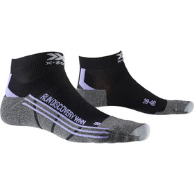 X-Socks Run Discovery Sokken Dames, black/stone grey melange
